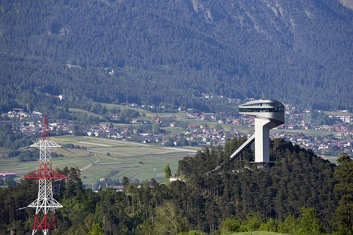 Burgisel Ski Jump, Innsbruck, Austria, Valley