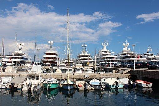 Ships, Boats, Port, Powerboat, Monaco, Empire, Arm