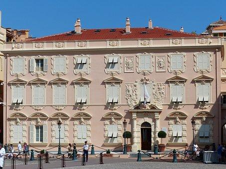 House, Building, Decorated, Facade, Stucco, Monaco
