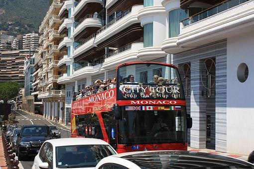 City Tour, Tourist, Bus, Street Scene, Traffic, Monaco