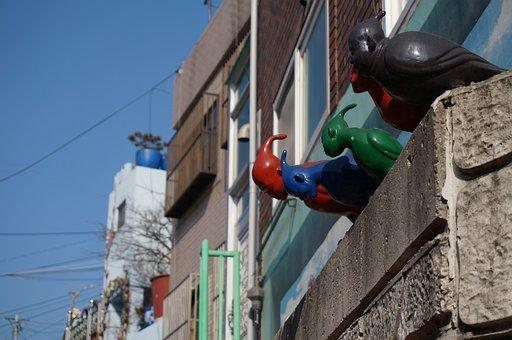 The New Head Man, Sculpture, Art, Gra-dong, Busan