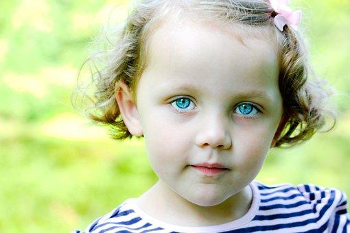 Little Girl, Blue Eyes, Child, Girl, Baby, Face