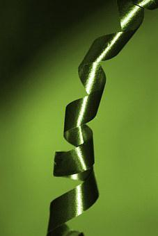 Ribbons, Green, Packages, Christmas Eve, Birthday