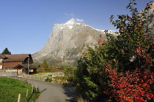 Grindelwald, Mountains, Farmhouse, Autumn, Farmhouses