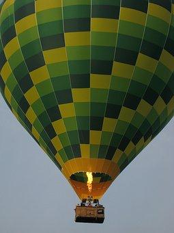 Balloon, Flight, Evening, Shugborough Hall, Air, Sky