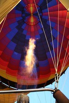Hot Air Balloon, Burner, Recreation, Glow, Hot, Flight