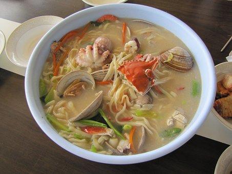 Seafood, Noodles, Daebudo, Food, Side Dishes, Flour