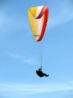 Hang Glider, Sky, Fly, Flying, Gliding, Sports
