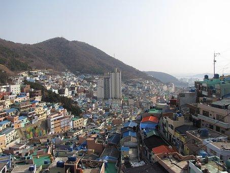 Busan, Gamcheon, Cultural Village, Travel, Landscape
