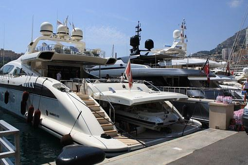Monaco, Port, Yacht, Garage, Boat On The Boat