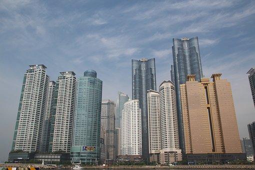 Haeundae Beach, Apartments, City, High Rise Buildings