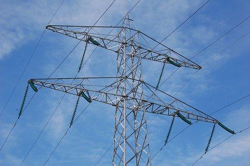 Pylon, Flow, High Voltage Line, High Voltage