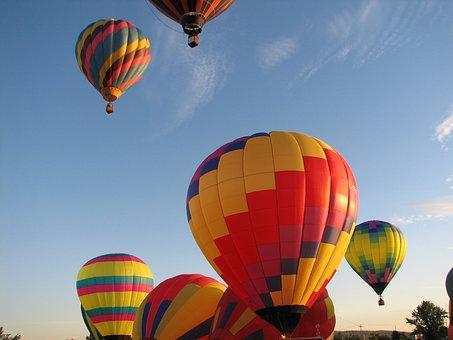 Hot Air Balloons, Balloons, Air, Hot, Sky, Colorful