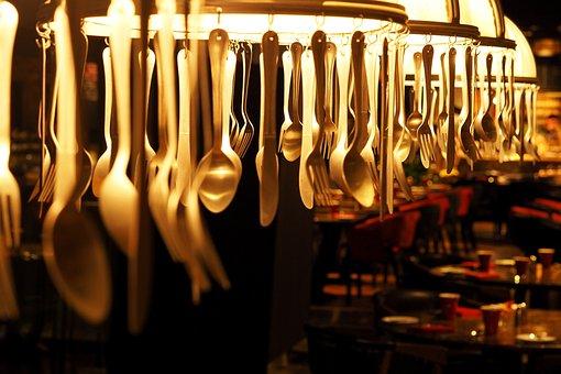 Lamps Utensils, Spoon, Fork, Hanging, Decorate