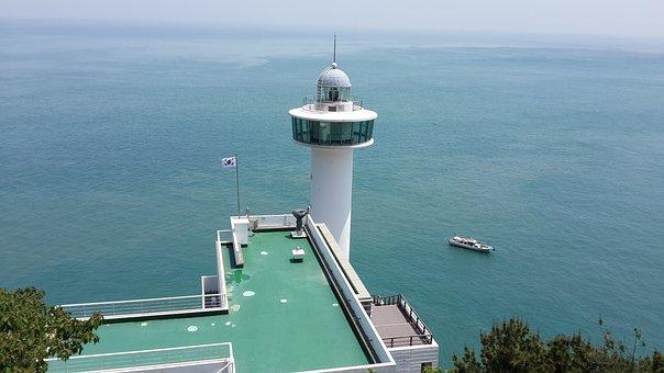 Lighthouse, Sea, Busan