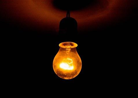 Light Bulb, Lighting, Hanging, Ceiling, Energy, Glowing