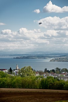 Airship, Zeppelin, Lake Constance, überlingen, Mainau
