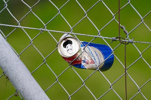 Fence, Metal, Wire, Box, Pinched, Crushed, Waste