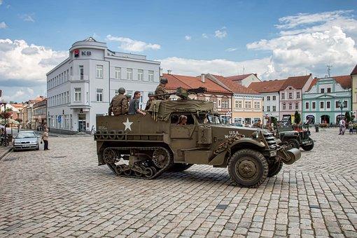 Military, Truck, Pelhřimov, Czech Republic