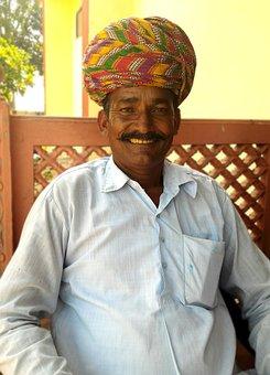 India, Turban, Moustache, Smile, The White Shirt