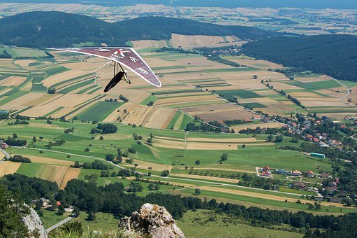 Hang Glider, Sport, Landscape, Fly, Mountain, Nature