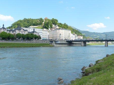 Salzburg, Neustadt, Salzach, Makartsteg, Bridge