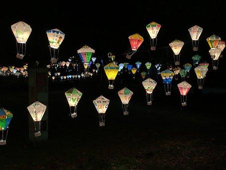Flower 燈, Hot Qi Ball, Night