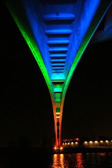 Bridge, Night View, A Night View Of Seoul, Han River