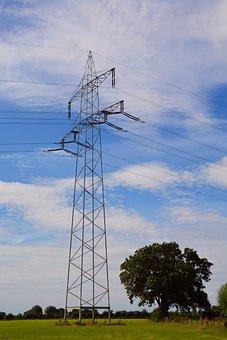High Voltage, Power Line, Electricity, Power Poles