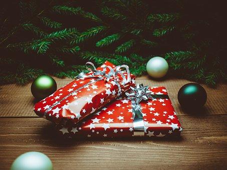 Present, Christmas, Christmas Presents, Red