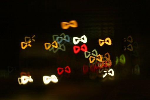 Ribbon, Bokeh, Light, Night, Lighting, Reflect, Dark