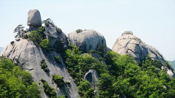 Obong, Dobong, Seoul, Rock, Mountain, Scenery