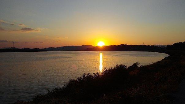 Namyangju, Han River, Sampae, Sunset, Nature, Scenery