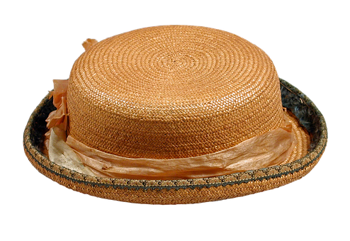 Straw Hat, Boys, Pork-pie Hat, Vintage, Antique