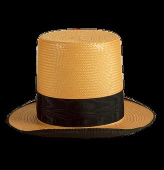 Mans Hat, Hat, Straw Hat, Straw, Silk, Grosgrain Ribbon