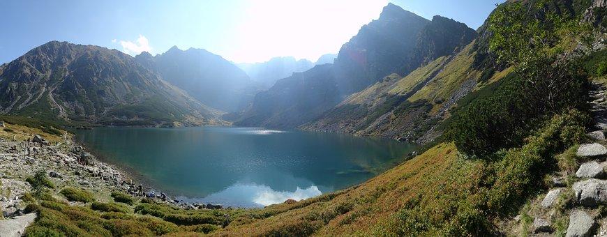 Poland, Mountains, Black Pond Tracked, Tatry, Nature