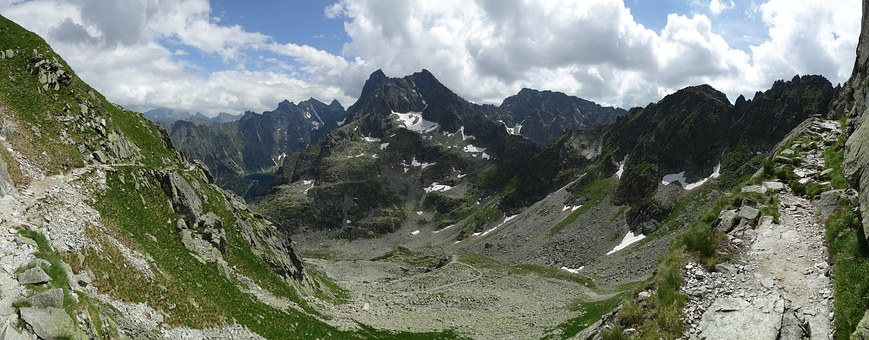 Mountains, Panorama, Tops, The High Tatras, Nature