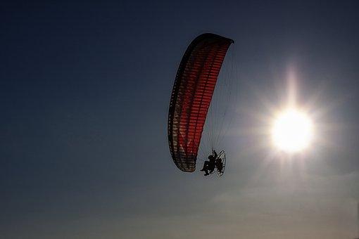 Sky, The Sun, Flying, Hang Glider