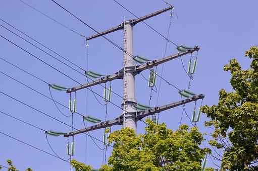 Power Line, Industry, Electricity, Transmission Towers