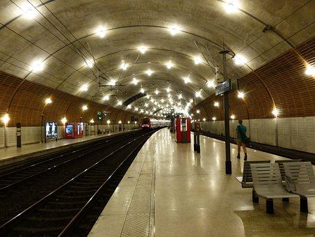 Railway Station, Dark, Gleise, Rails, Underground, Tube