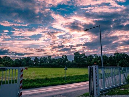 Clouds, Evening, Twilight, Abendstimmung, Evening Sky