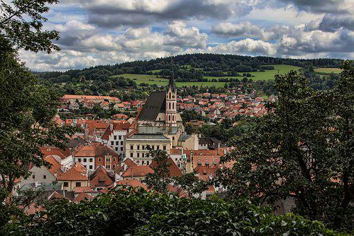 český Krumlov, Czech Republic, Unesco, View