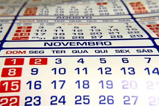 Calendar, Leaflet, Dater, Month, Days, Year