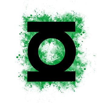Green Lantern, Logo, Black, Superhero, Green