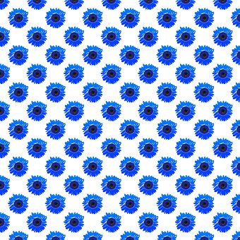 Sunflower Digital Paper, Blue Sunflower
