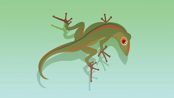 Lizard, Animal, Reptile, Friendly, Wall, Cartoon