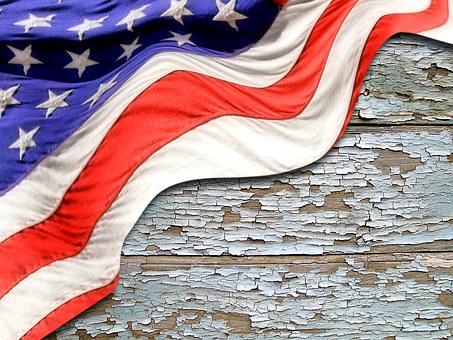 Flag, Wood, Usa, Background, American, Banner