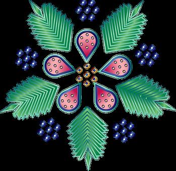 Graphic, Rosemalling, Flower, Norwegian, Norway