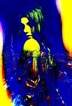 Pop Art, Color, Artistic, Gradient, Light, Masked, City