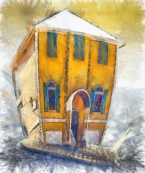 Snail, Pencil, Colors, House, Yellow